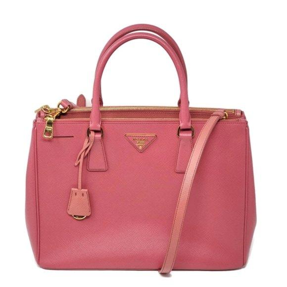 Prada Handbags - Auth Prada Saffiano Large Galleria Satchel Bag